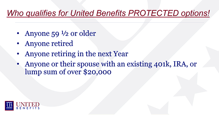 Who qualifies for United Benefits Protected Options?